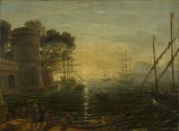 36-CLAUDE-LORRAIN-FOLLOWER-harbor-at-sunset-koniec-XVII-w-1p