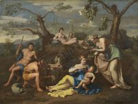 40-POUSSIN-NICOLAS-FOLLOWER-Nymps-freeding-the-Child-Jupiter-c-1850-1p